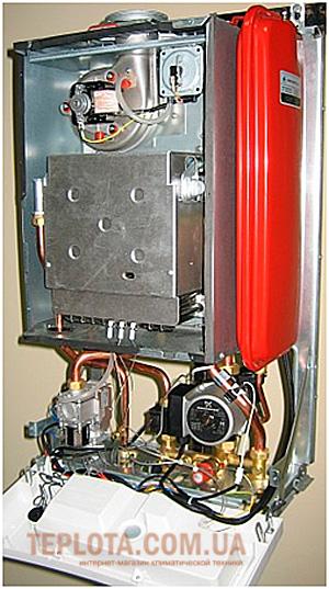 Компоновка газового котла NOBEL с принудительным выбросом продуктов сгорания