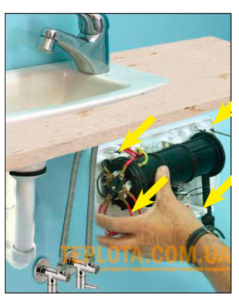 Установка водонагревателя ATMOR in-line
