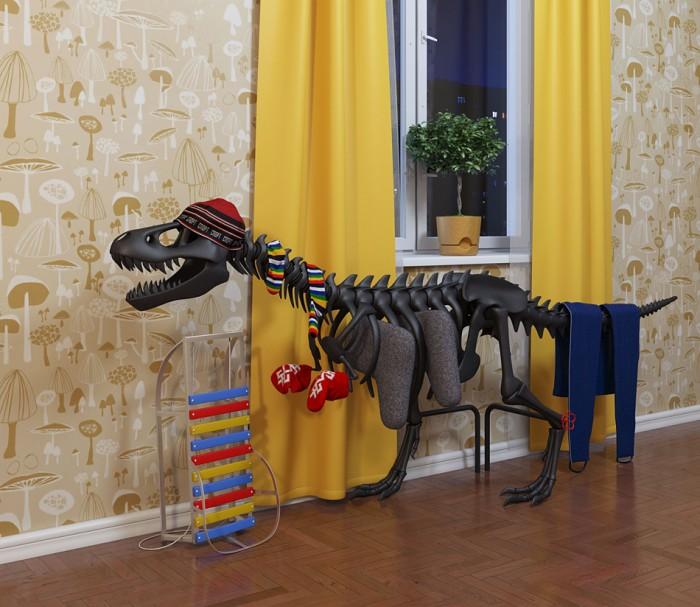 Теплозаврус - дизайнерский радиатор - работа Студии Артемия Лебедева в интерьере