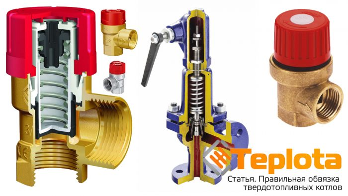 Обвязка твердотопливного котла - Клапан предохрантиельный