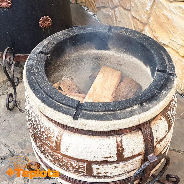 Рецепт тандыр - Зажигаем дрова в тандыре для нагрева