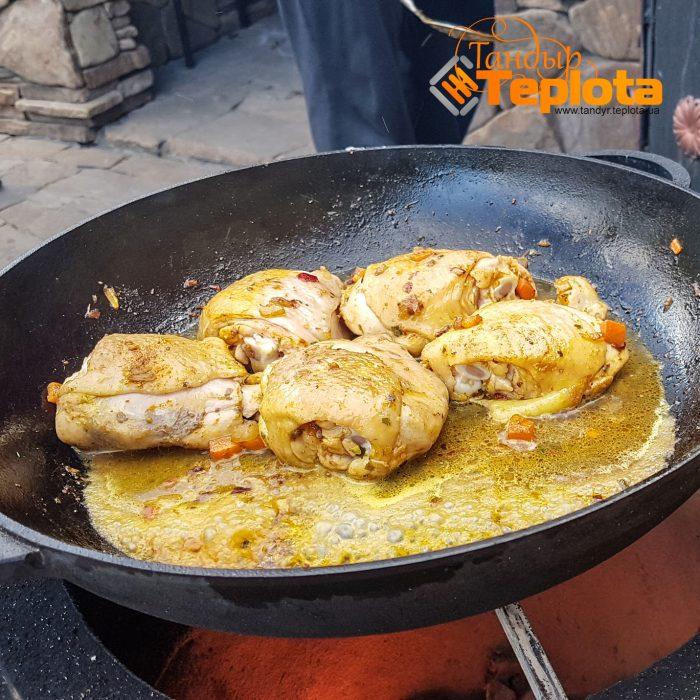 Рецепт тандыр - картошка с курицей в горшочке